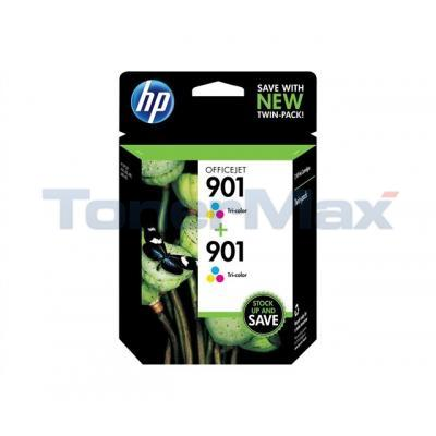 HP NO 901 INK CART TRI-COLOR TWIN PACK